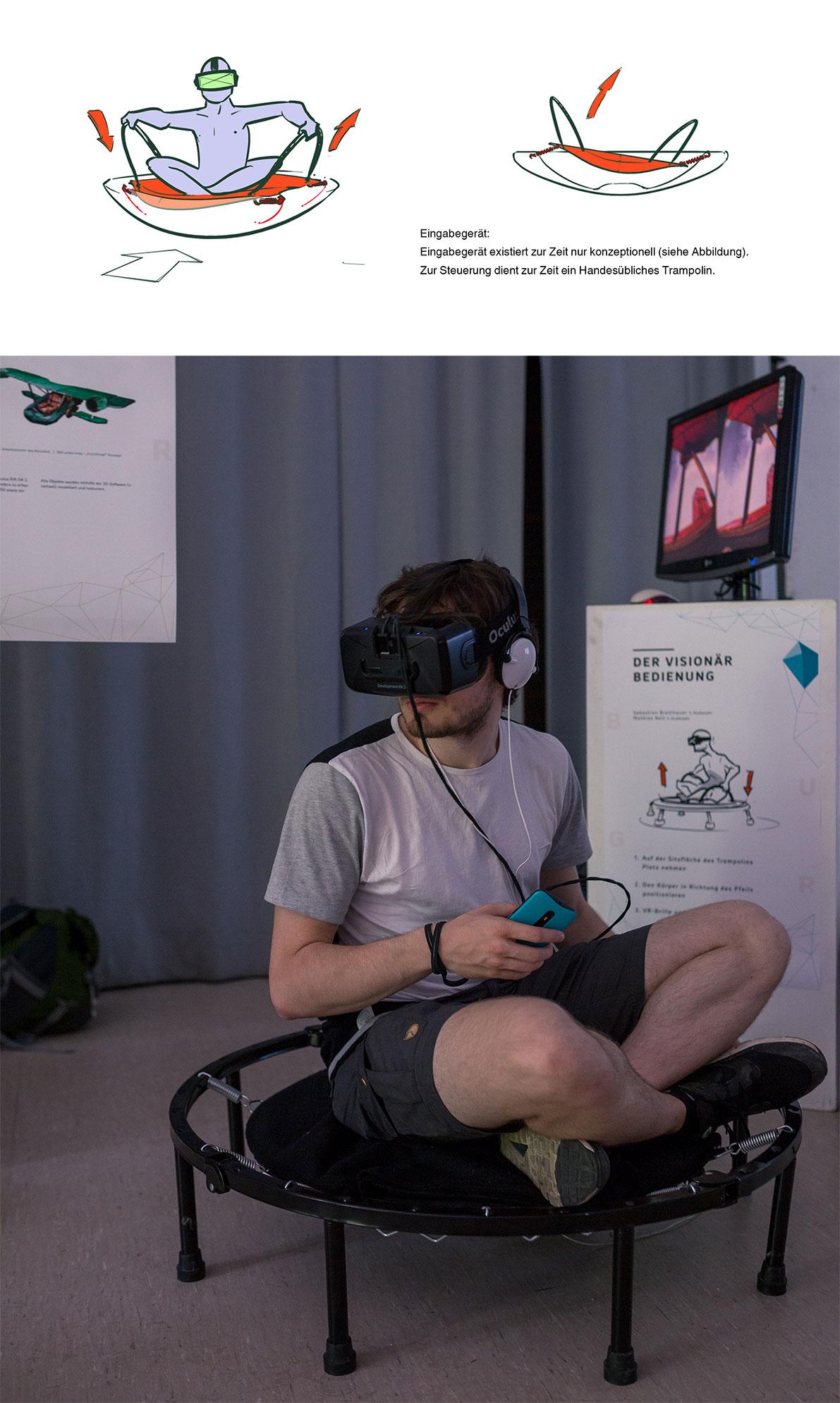 VR, Fly, simulator, Visonär