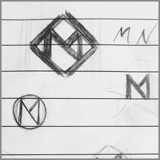 Scribble, draft, entwurf, Logo, Mathias Nell, @ Mathias Nell