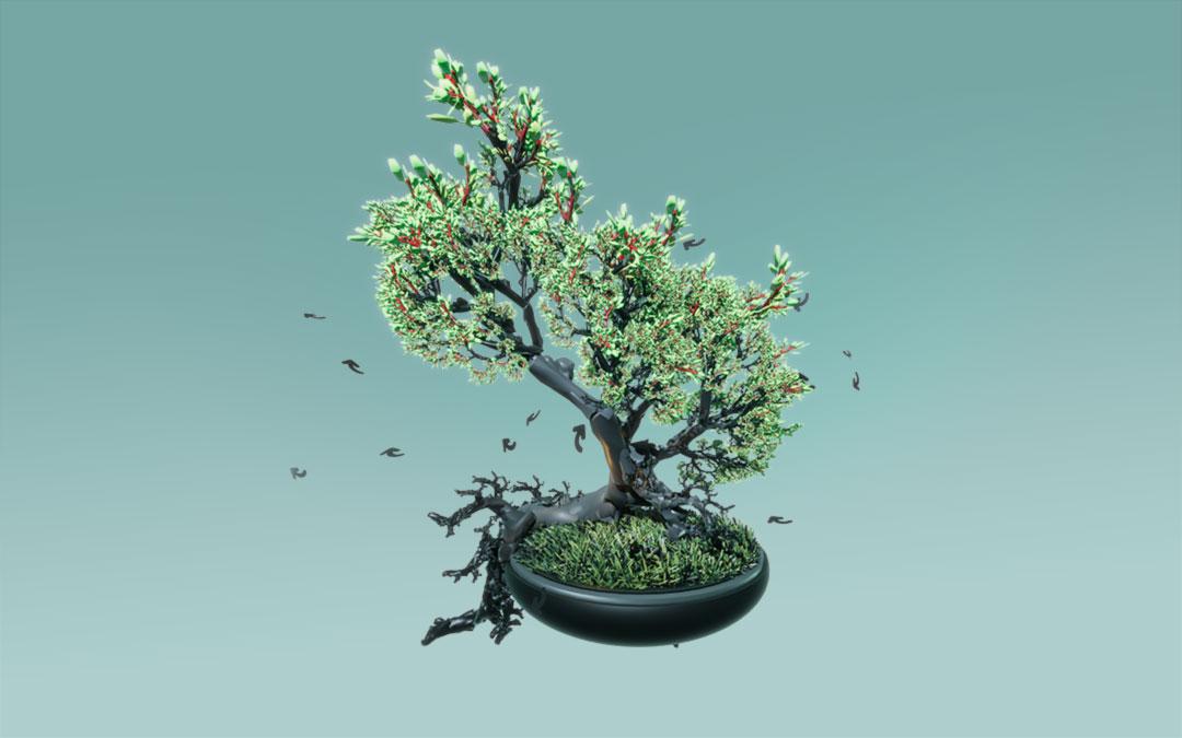 Fractal, Tree, fantasy,Unity 3D, Game, Pflanzenwelt @ Mathias Nell