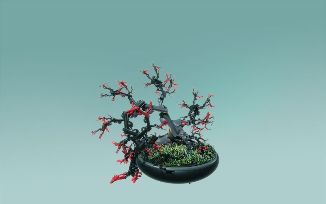 Fractal, Tree, death,Unity 3D, Game, Pflanzenwelt @ Mathias Nell