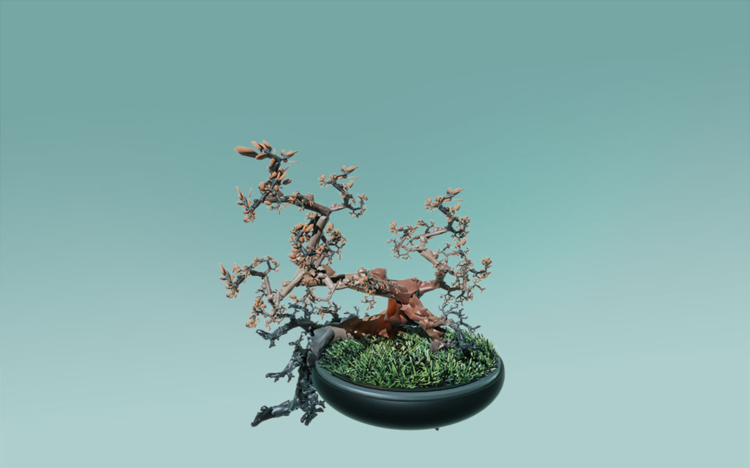 Fractal, Tree, old,Unity 3D, Game, Pflanzenwelt @ Mathias Nell
